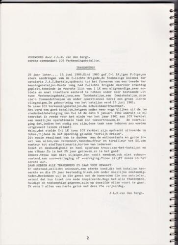 1986 'Contact, wacht uit'... Kroniek van 25 jaar 103 Verkenningsbataljon 2