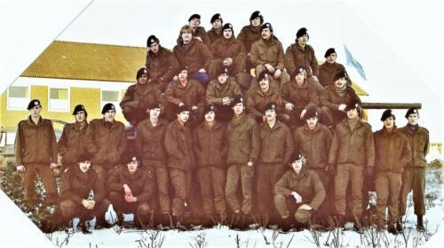 1980 03 tm 12 B esk 3e pel. 103 Verkbat A Opstelling 3e peloton. Inz. knt Kees C.M. Blom