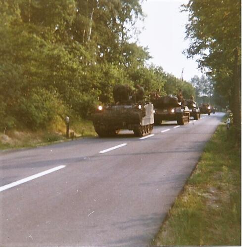 1980 03 tm 12 B esk 3e pel. 103 Verkbat Oefening. Verplaatsing mooie colonne Inz. knt Kees C.M. Blom