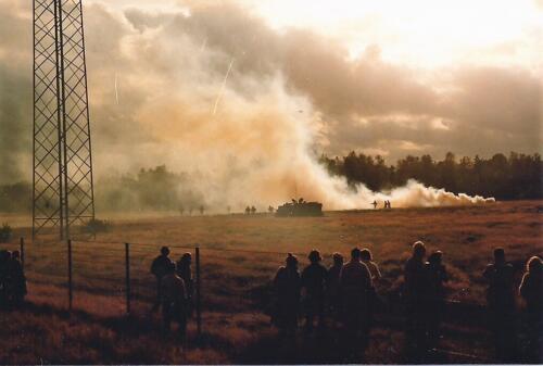 1980 03 tm 12 B esk 3e pel. 103 Verkbat Ouderweekend prachtige demo vuur en beweging . Inz. knt Kees C.M. Blom 1