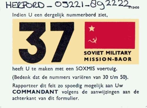 1980 04 20 Het toen welbekende SOXMIS kaartje Russen opsporen