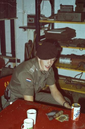 1980 1981 A Esk 103 Verkbat 31. Schieten varen oefening en ouderweekend. Inzender Wmr Arthur Vuijk