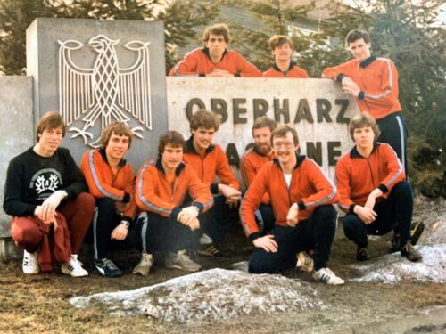 1980 A-Esk 103 Verkbat; Boeselager team trainingskamp in de Harz met Tlnt Peter vd Aker en Wmr John Mullers. Foto Kpl-Wmr John Emmen