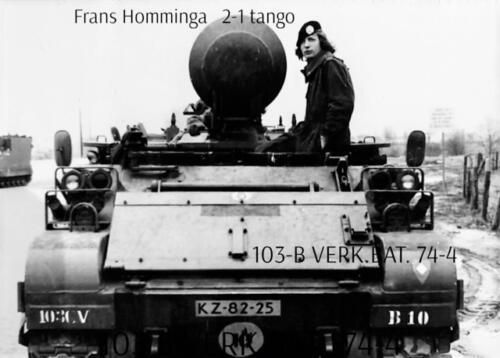 1974-1975 B-Esk li 74-4 103 Verkbat; Oefeningen en kazerneleven. Inzender Frans Homminga (27)