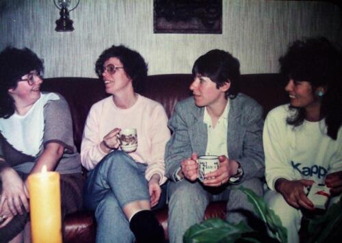 1981 1986 SSV Esk Dames op een rij. o.a. Cremers Polak en Mullers Inz. Jan Cremers