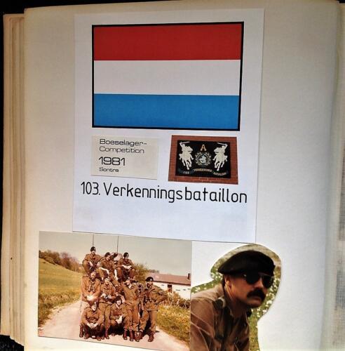 1981 A Esk 103 Verkbat Deelname Boeselager. Fotoalbum Pedro Haans 1