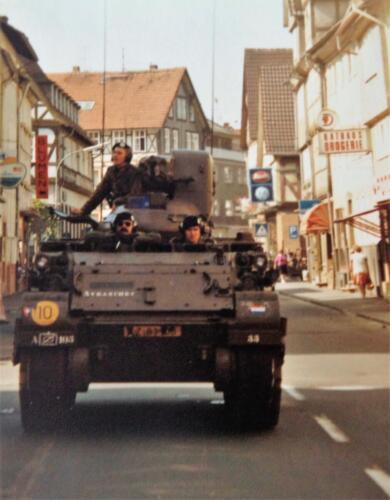 1981 A Esk 103 Verkbat Deelname Boeselager. Op weg naar Sontra Inz. Pedro Haans 2