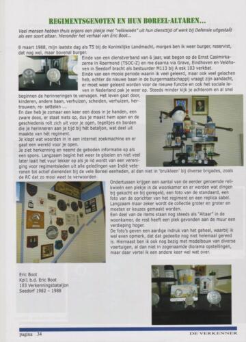 1982 1988 A Esk 103 Verkbat Ch M113 radar Kpl I b.d. Eric Boot verteld over zijn diensttijd en hobby