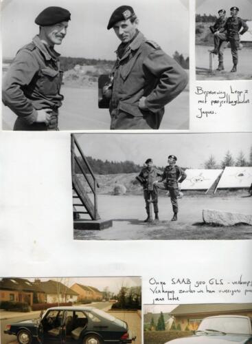 1983-09-02 103 Verkbat; Schietserie, PBC Maj Renie Meeder en S3 Ritmeester Jaques Bogmans. (Fotoboek Maj Meeder) (1)