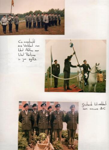 1983 06 18 103 Verkbat Co overdracht van Lkol Abbas aan Lkol Reitsma Fotoboek R Meeder. 1