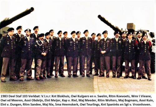 1983-12-09 Deel Staf 103 Verkenningsbataljon seedorf