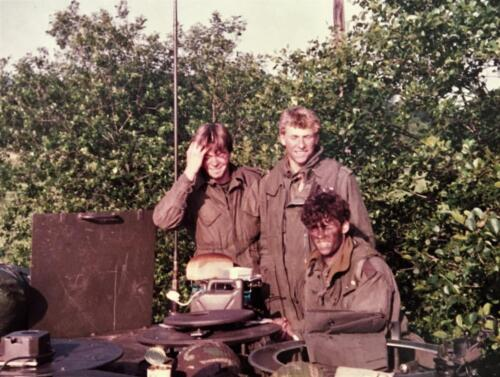 1983 1984 A Esk 103 Verkbat Opnamen oefening. Lichting 83 5 Foto Nicky van Nimwegen 2