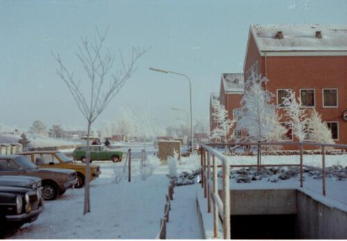 1983 1987 B Esk 103 Verkbat Besneeuwde legerplaats Seedorf rond de jaarwisseling Inz. Wmr I Jan Pol 7