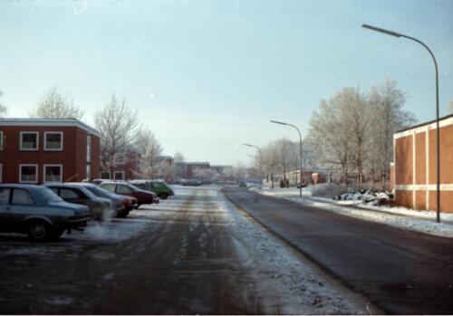 1983 1987 B Esk 103 Verkbat Besneeuwde legerplaats Seedorf rond de jaarwisseling Inz. Wmr I Jan Pol 9