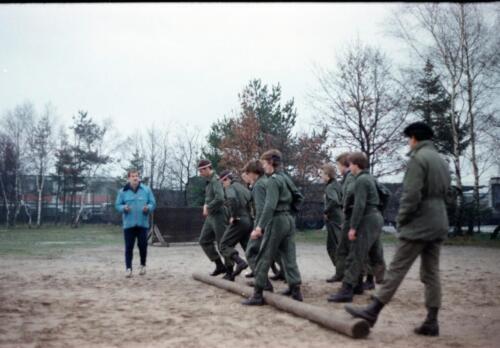 1983 1987 B Esk 103 Verkbat Boeselager Hindernisbaan ook die in Seedorf. Inz. Wmr I Jan Pol 1