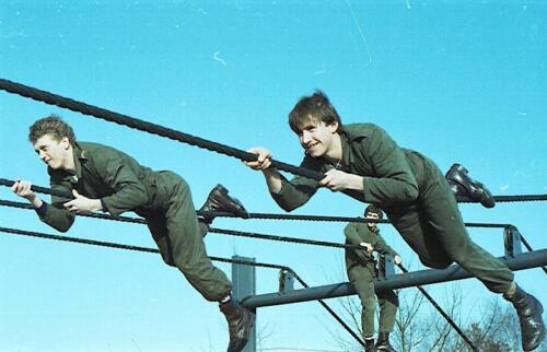 1983 1987 B Esk 103 Verkbat Boeselager Hindernisbaan ook die in Seedorf. Inz. Wmr I Jan Pol 15