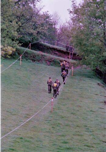 1983 1987 B Esk 103 Verkbat Boeselager wedstrijden Fysieke testen Hardloopparcours. Inz. Wmr I Jan Pol jpg 12