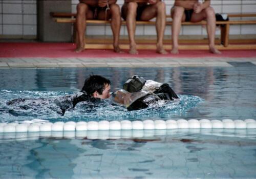 1983 1987 B Esk 103 Verkbat Boeselager wedstrijden Fysieke testen Roeien en zwemmen. Inz. Wmr I Jan Pol 6