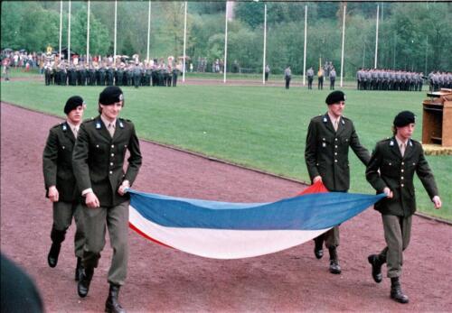 1983 1987 B Esk 103 Verkbat Boeselager wedstrijden. Defile 103. Inz. Wmr I Jan Pol 11