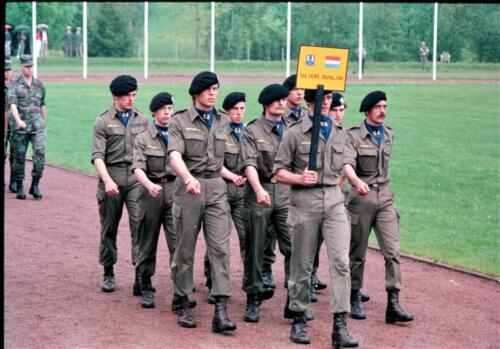 1983 1987 B Esk 103 Verkbat Boeselager wedstrijden. Defile 103. Inz. Wmr I Jan Pol 3