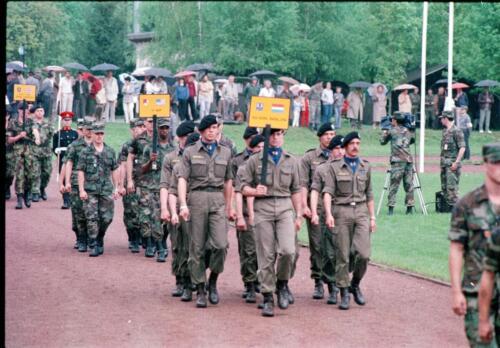 1983 1987 B Esk 103 Verkbat Boeselager wedstrijden. Defile 103. Inz. Wmr I Jan Pol 4