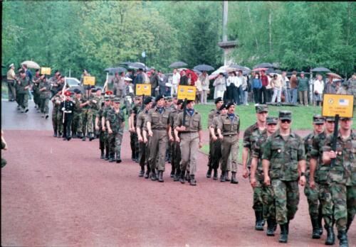1983 1987 B Esk 103 Verkbat Boeselager wedstrijden. Defile 103. Inz. Wmr I Jan Pol 5