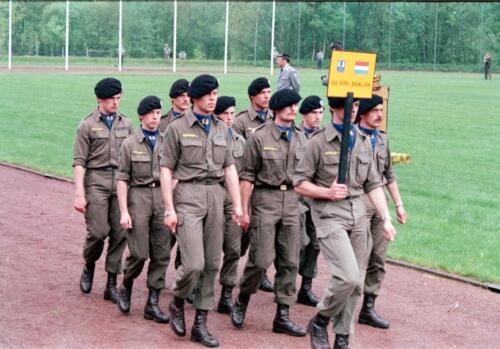 1983 1987 B Esk 103 Verkbat Boeselager wedstrijden. Defile 103. Inz. Wmr I Jan Pol 6
