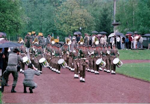 1983 1987 B Esk 103 Verkbat Boeselager wedstrijden. Defile. Inz. Wmr I Jan Pol 3