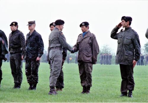 1983 1987 B Esk 103 Verkbat Boeselager wedstrijden. Opstelling. Inz. Wmr I Jan Pol 21