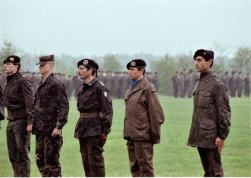 1983 1987 B Esk 103 Verkbat Boeselager wedstrijden. Opstelling. Inz. Wmr I Jan Pol 23