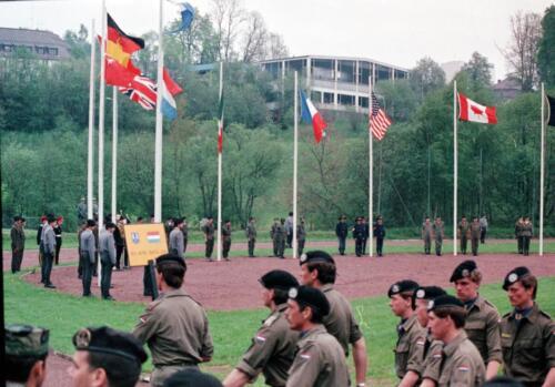 1983 1987 B Esk 103 Verkbat Boeselager wedstrijden. Opstelling. Inz. Wmr I Jan Pol 3