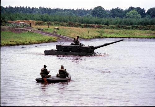 1983 1987 B Esk 103 Verkbat Diepwaden met Leopard II Inz. Wmr I Jan Pol 5a