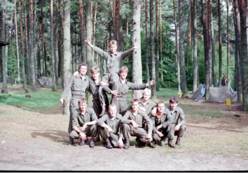 1983 1987 B Esk 103 Verkbat Eskadronssportdag. Inz. Wmr I Jan Pol 105