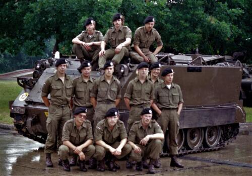 1983 1987 B Esk 103 Verkbat Groeps en vtgbemanningen bij de CV Wmr I Jan Pol 21