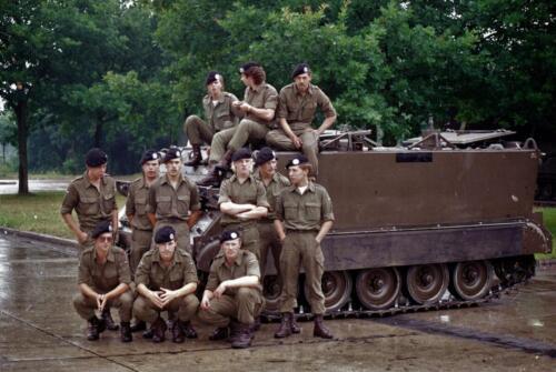 1983 1987 B Esk 103 Verkbat Groeps en vtgbemanningen bij de CV Wmr I Jan Pol 22