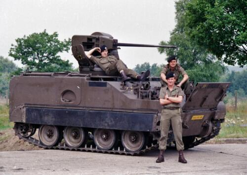 1983 1987 B Esk 103 Verkbat Groeps en vtgbemanningen bij de CV Wmr I Jan Pol 25