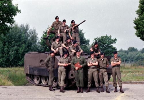 1983 1987 B Esk 103 Verkbat Groeps en vtgbemanningen bij de CV Wmr I Jan Pol 9