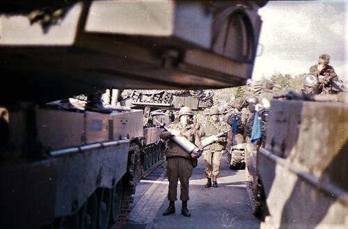 1983 1987 B Esk 103 Verkbat Munitiebeladingsoefening op de legerplaats Seedorf Inz. Wmr I Jan Pol 11