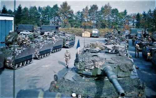 1983 1987 B Esk 103 Verkbat Munitiebeladingsoefening op de legerplaats Seedorf Inz. Wmr I Jan Pol 14