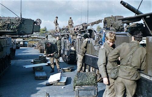 1983 1987 B Esk 103 Verkbat Munitiebeladingsoefening op de legerplaats Seedorf Inz. Wmr I Jan Pol 16