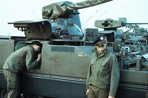 1983 1987 B Esk 103 Verkbat Seedorf Kaserne activiteiten. Inz. Wmr I Jan Pol 2