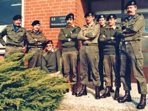 1983 Marmeren bord afscheidscadeau Maj Kwinten