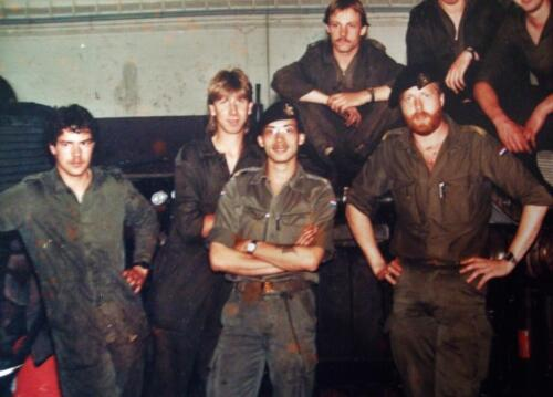 1983 SSV Esk 103 Verkbat Onh Pel. o.a. Sgtn I Wanjon en Maurits. Inzender Jan Cremers