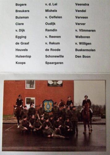 1983 SSV Esk 193 Verbat Indas pel. Links te paard Kpl I Eendenburg Inz .Jan Cremers