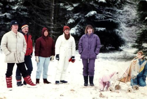 1984 12 25 SSV Esk 103 Verkbat Kerst in Winterberg o.a Sm Ben Heuveling en inz. Christine Kuijpers