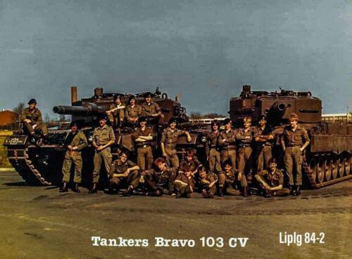 1984 B Esk 103 Verkbat De tankers vereend o.a. OPC 3 Wmr I Ruud de Lange.