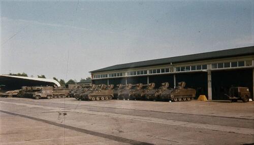 1985 103 Verkbat Parkeerplaats Het achterterrein De plaat in Seedorf