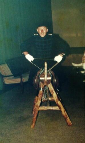 1985 SSV Esk 103 Verkbat Gebeurtenis in Officiersmess Seedorf Te paard te paard Inz. Jan Cremers