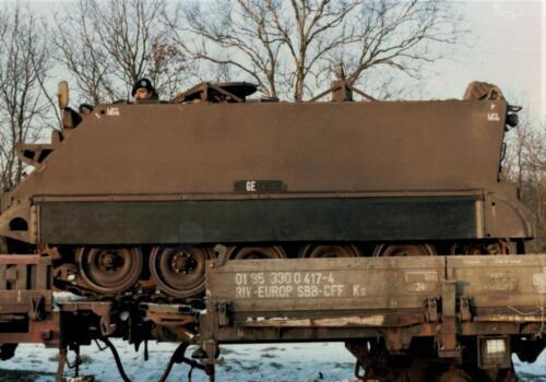1986 A Esk 103 Verkbat Op transport. Fotos Huz I Paul Poelman 2