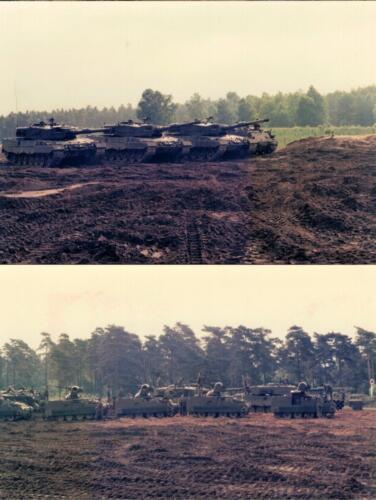 1986 A-Esk 103 Verkbat; Opstelling in de blubber.... Foto Huz I Paul Poelman